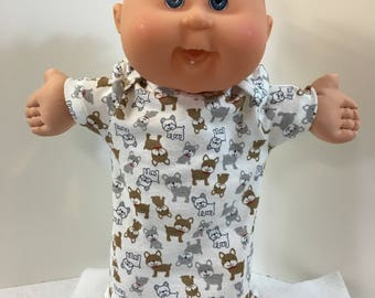 """Cabbage Patch 14 inch BABY BOY or Smaller Boy 14 inch Kids Doll, Adorable """"Puppy Dog"""" Nightshirt"""", 14 inch Cabbage Patch, Love My Puppy Dog!"""