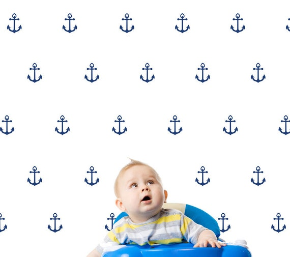 ANCHOR geometric shape pattern Wall Decals for Boys Girls Nursery Decoration COLORFUL wall decal MODERN vinyl at home stickers