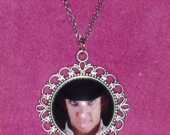 Alex DeLarge / A Clockwork Orange Inspired Silver Cameo Necklace