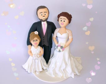 Personalized Wedding Cake Topper Figurines Bespoke Wedding Figurines Cake Toppers Made to Custom Customized Cake Toppers Clay Cake Toppers