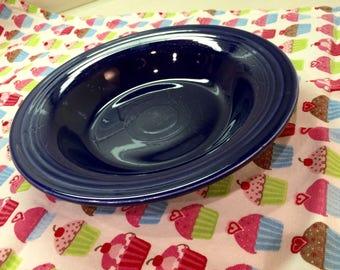 Vintage Original Cobalt Blue Fiestaware Deep Plate Bowl Homer Laughlin Ohio Fiesta Ware