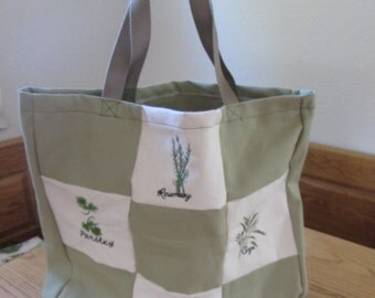 Herbs patch reusable Market Bag