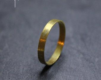 Eheringe gold matt gebürstet  Gebürstet gold ring | Etsy