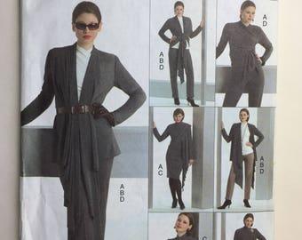 Vogue Easy Options V8305 Misses' Jacket, Top, Dress and Pants Wardrobe V8305 Sizes 6,8,10