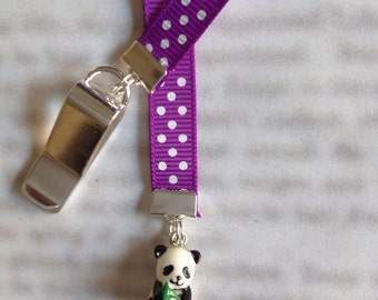 Panda bookmark, cute bookmark with clip - Attach to book cover then mark the page with the ribbon. Never lose your cute bookmark!