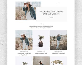 Responsive Premade Blogger template + Contact Form -  Minimalist Gallery Grunge
