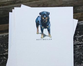 Rottweiler Dog Note Card Set