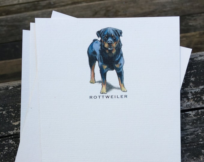 Rottweiler Dog Note Card Set
