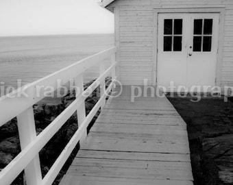 White Cabin Photo Art Photography Nautical Theme Saint Lawrence Charlevoix Photo Black White Photography Romantic Dreamy Home Decor