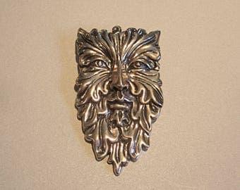 Greenman Brooch in Bronze