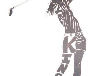 Women's Golf Silhouette