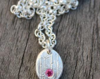 Ruby pebble pendant, ruby pendant, ruby birthstone pendant, ruby necklace, ruby jewellery, ruby jewelry, july birthstone jewellery