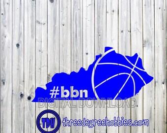 Kentucky Basketball State Big Blue Nation Digital Download SVG DXF EPS Silhouette Studio Cricut Design Space