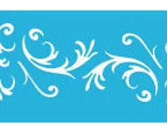 "6"" x 18"", Americana Decor Stencils, Victorian Baroque, Reusable Stencil"