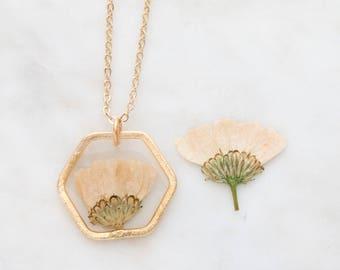 White Chrysanthemum Necklace