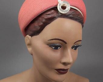 Bubble Gum Pink Vintage 60s Mod Bubble Hat Norman Durand