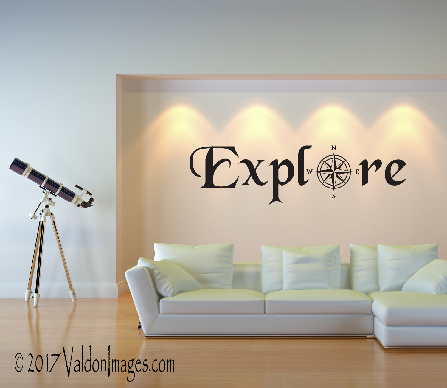 Explore Wall Decal Travel Decor Living Room Decal Travel