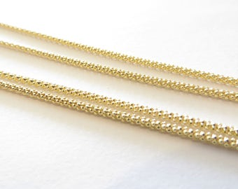 Beautiful 925/24k Round Curb 30'' Necklace
