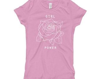 Girl's Girl Power T Shirt • Little Girl's Feminist Tee • Young Girl's Feminism Shirt • Little Girl Tshirt ««« PF00 «