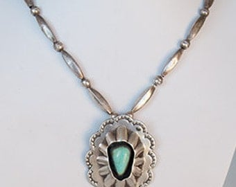 """Exceptional! This vintage sterling silver necklace is one of the ages 54.8 grams, 24"""" length. Lavender Blue turquoise."""