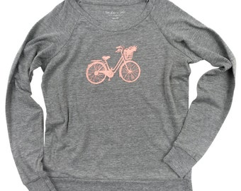 Beach Cruiser Bicycle Ladies Slouchy Pullover SALE