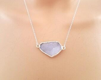 Druzy Necklace, Pink Druzy Necklace, Drusy Necklace, Druzy Jewelry, Druzy Pendant Necklace