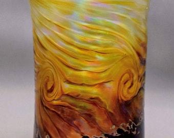 Hand blown Glass Optic Twist Design Time Warp Drinking Glass Tumbler Wedding Shower Gift Housewarming Gift Kitchen Tableware