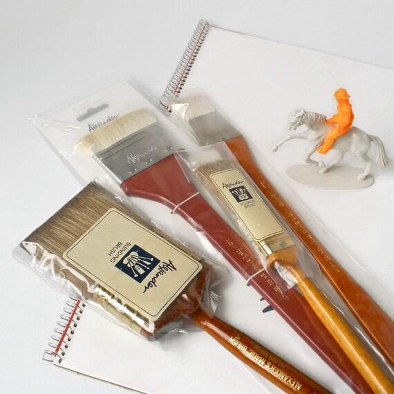 Flat Artist Paint Brush Brushes Lot Acrylic Oil Pure