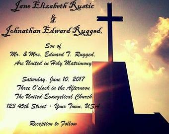 Custom Religious Wedding Invitation