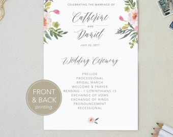 Wedding Program. Ceremony Order. Weddings. Fun Wedding Program. Church Service. Wedding Decor. Ceremony Info. Double Sided Program.