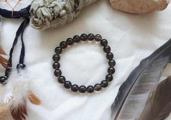 Smoky Quartz Crystal Healing Bracelet