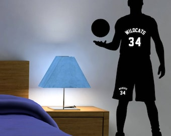Personalized Basketball Wall Decal, Basketball Gifts, Basketball Decor, Basketball Room Decor, Basketball Wall Art, Basketball Bedroom