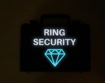 LED ring box briefcase for ring bearer box light up ring security diamond box LED briefcase wedding Light up ring security briefcase