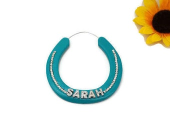Kids Personalized, Horse Crazy, Horse Decor, Decorated Horseshoes, Custom Name Horseshoe, Personalized Horseshoe, Kids Gift Child Gift, Girl