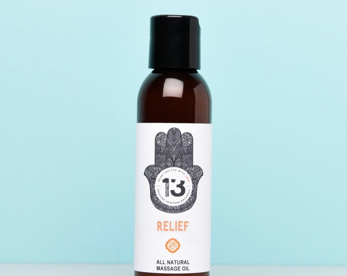 Relief Massage Oil (Gingergrass, Frankincense, Peppermint)