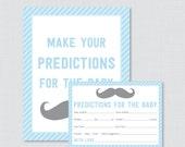 Mustache Baby Shower Pred...
