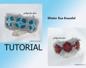 Winter Sea bracelet tutorial PDF, Instant download, Beading Tutorial, bracelet tutorial, tutorial PDF e-book, Beadwork Tutorial, DIY