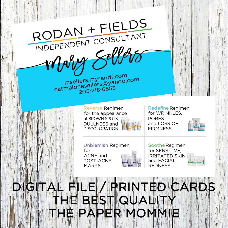 rodan fields business card rodan and fields business card