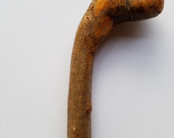 Old Hand Carved Wood Shillelagh, Walking Stick or Cane