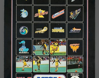1980s MISL Major Indoor Soccer League Poster Chicago Sting Indoor Soccer Club Poster 16 x 21