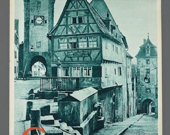 1960s German Northern Bavaria Travel Poster 19.5 x 29 Vintage Poster Original