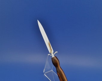 Letter Opener, Handcrafted, wood, Goncalo Alves, chrome finish