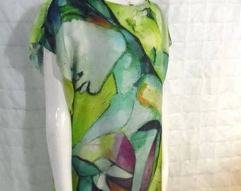Disorder Handmade Original Art 'Android' Tunic dress