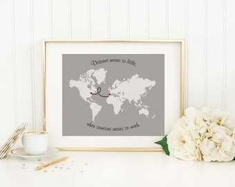 Long distance map Etsy