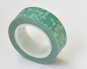Math Formula Algebra / Mathematical Equations Washi Tape/ 15mm Wide x 10m Long / No. 12117