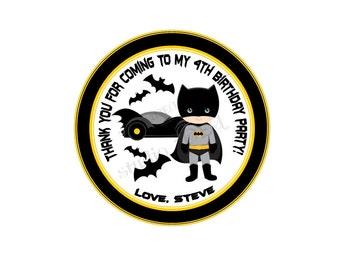 "Superheroes Personalized Thank you Tags- 2.5"" Printable Tags- Custom  DIY Tags- YOU PRINT-Digital file"