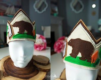Bear Birthday Crown, Bear Birthday Hat, Birthday Crown Bear, Bear Birthday Decor, 1st Birthday Bear, Woodland  Birthday  Crown, Bear Crown