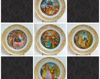 SET OF 5 Grimm's Fairy Tales 1978 Franklin Porcelain Limited Edition Plates