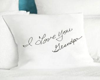 Actual handwriting gifts - Custom handwriting cushion - Personalized pillow - Memorial pillow - Custom memory pillow - In remembrance pillow