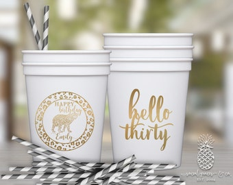 Cheetah Party Cups | Personalized Cups | Cheetah Cups | Party Favor Cups | Birthday Party Cups | Party Cups | Plastic Cups | Safari Cups